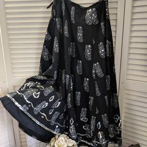 Gorgeous Black Sequinned Skirt